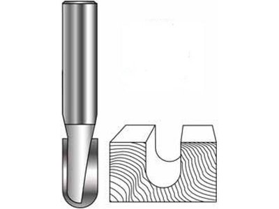 Roundnose Bit - Carbide, 1/4in diameter